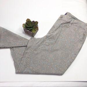 NYDJ printed paisley pants, Clarissa ankle length